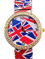 Недорогие -женская личность просто британская flaghot продать металлическая пружина группа наручные часы