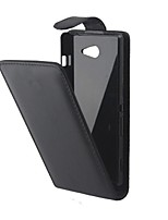 Недорогие -Кейс для Назначение Sony Xperia Z3 Compact Sony Xperia M2 Другое Sony Кейс для Sony Флип Чехол Сплошной цвет Твердый Кожа PU для Sony