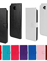 cheap -Case For LG LG Case Card Holder Wallet with Stand Flip Full Body Cases Solid Color Hard PU Leather for