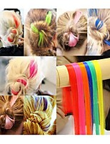 1pc de punk couleurs fluorescents ordinaires morceau de cheveux / perm&couper possible