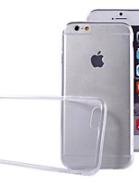 baratos -Capinha Para Apple iPhone 6 iPhone 6 Plus Ultra-Fina Transparente Capa traseira Côr Sólida Macia TPU para iPhone 6s Plus iPhone 6s iPhone