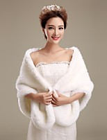 cheap -Faux Fur Wedding / Party Evening Wedding  Wraps / Fur Wraps With Shawls
