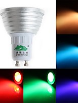 cheap -200-250 lm GU10 LED Spotlight MR16 1 leds Dip LED Dimmable Decorative Remote-Controlled RGB AC 85-265V