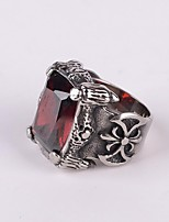 cheap -Men's Statement Ring Black Red Titanium Steel Fashion Party Daily Casual Costume Jewelry