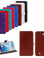 For Samsung Galaxy Note Card Holder / with Stand / Flip Case Full Body Case Solid Color PU Leather Samsung Note 2