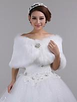 cheap -Faux Fur Wedding / Party Evening Wedding  Wraps / Fur Wraps With Shrugs