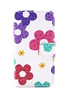 cheap -Sunflower Pattern PU Leather Cover with Card Slot with Touch Pen and Protective Film 2 Pcs and Headset for iPhone 4/4s