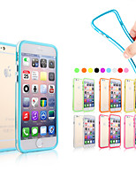 billige -Etui Til Apple iPhone 6 iPhone 6 Plus Andet Stødfanger etui Ensfarvet Blødt Silikone for iPhone 6s Plus iPhone 6s iPhone 6 Plus iPhone 6