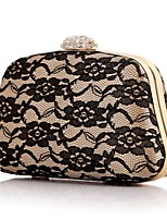Women Bags Polyester Evening Bag Lace for Event/Party All Season Black