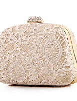 Women Bags Polyester Evening Bag Lace for Event/Party All Season Beige