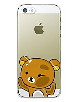 cheap -Case For Apple iPhone X iPhone 8 Plus iPhone 5 Case iPhone 6 iPhone 6 Plus iPhone 7 Plus iPhone 7 Transparent Pattern Back Cover Cartoon