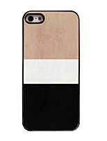 abordables -Funda Para iPhone 5 Apple Funda iPhone 5 Diseños Funda Trasera Líneas / Olas Dura ordenador personal para iPhone SE/5s iPhone 5