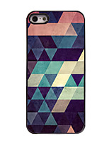 baratos -Para iPhone 8 iPhone 8 Plus Capinha iPhone 5 Case Tampa Estampada Capa Traseira Capinha Estampa Geométrica Rígida PC para iPhone 8 Plus