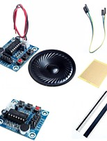ISD1820 Audio Sound Recording Module w/ Microphone / Speaker  and Accessories for Arduino