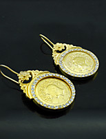 18K Real Gold Plated Coin Earrings