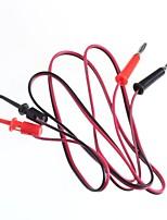 linha de teste / fichas de banana virar teste gancho / 2 plug gancho por sua vez, 2 (1 m comprimento do cabo)
