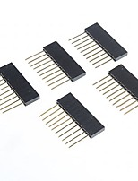 High Quality 2.5mm Pitch 10-Pin Male to Female Pin Headers for  Arduino  (5 PCS)