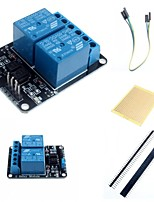 2 Channel Electric Relay Module Relay Expansion Board with Optocoupler and Accessories for Arduino