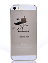 cheap -Case For iPhone 7 Plus iPhone 7 iPhone 5 Apple iPhone 5 Case Ultra-thin Transparent Pattern Back Cover Playing with Apple Logo Soft TPU