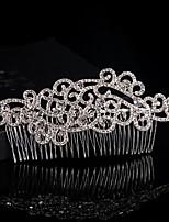 Floral Design Wedding Bride Crystal Combs Headpiece