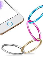 di alta qualità Protezione tasto home metallo anello di copertura del cerchio per il iphone 6/6 plus / 5s / ipad aria 2 / ipad mini