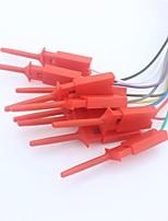 rapido clip di collegamento del cavo per il test analizzatore logico - rosso (10 pz)