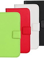 For Samsung Galaxy Case Wallet / Card Holder / with Stand / Flip Case Full Body Case Solid Color PU Leather Samsung S4 Active