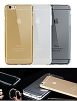 billige -For iPhone 6 etui / iPhone 6 Plus etui Transparent Etui Bagcover Etui Helfarve Blødt TPU iPhone 6s Plus/6 Plus / iPhone 6s/6