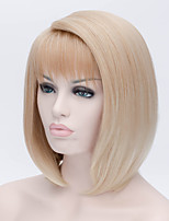 cheap -Synthetic Hair Wigs Curly Ombre Hair Bob Haircut With Bangs Party Wig Natural Wigs Long Light Blonde