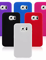 Pour Samsung Galaxy Coque Antichoc Coque Coque Arrière Coque Couleur Pleine Silicone pour Samsung S6