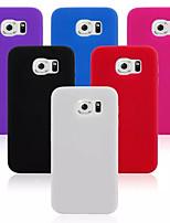 billige -For Samsung Galaxy etui Stødsikker Etui Bagcover Etui Helfarve Silikone for Samsung S6