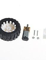 motoriduttori con supporto ruota di gomma robot (6v100 turno)