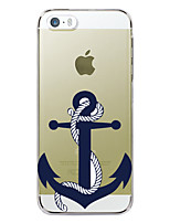 economico -Custodia Per Apple Custodia iPhone 5 iPhone 6 iPhone 6 Plus iPhone 7 Plus iPhone 7 Fantasia/disegno Per retro Ancora Resistente TPU per