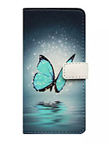 cheap -Case For Apple iPhone 5 Case Wallet / Card Holder / with Stand Full Body Cases Butterfly Hard PU Leather for iPhone 7 Plus / iPhone 7 / iPhone 6s Plus