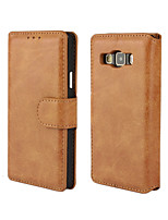cheap -Solid Color Retro Scrub PU Leather Full Body Wallet Protective Case for Samsung Galaxy A3 A5 A7