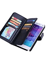 cheap -For Samsung Galaxy Note5 Wallet Case Card Holder Magnetic Case Full Body Cover Hard PU Leather for Note 4 NOTE3