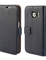 cheap -Bark Grain Genuine Leather Full Body Cover with Stand and Case for Samsung Galaxy S6 Edge