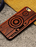 cheap -Case For Apple iPhone 6 iPhone 6 Plus Pattern Back Cover Cartoon Hard Wooden for iPhone 6s Plus iPhone 6s iPhone 6 Plus iPhone 6
