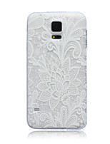 Lace Flowers Pattern TPU Soft Back Cover Case for Samsung Galaxy S3 S4 S5 S6 S3mini S4mini S5mini S6 edge