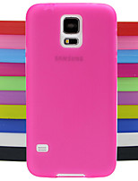 design pattern solido di colore gelatina Custodia in silicone per i9600 Samsung Galaxy S5