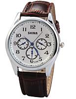 Недорогие -Жен. Модные часы Кварцевый Стеганная ПУ кожа Черный / Коричневый Аналоговый Черный Коричневый / Нержавеющая сталь