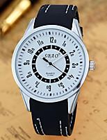 Недорогие -Муж. Спортивные часы Кварцевый силиконовый Черный Аналоговый Белый Черный Зеленый