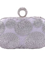 Women Bags All Seasons Polyester Evening Bag for Wedding Event/Party Formal Black Silver