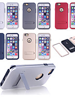 cheap -Good Quality Special Design PC Silicone Shatter-Resistant Case Back Cover  for iPhone 6(Assorted Colors)