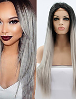 cheap -Synthetic Wig Straight Synthetic Hair Wig Lace Front Wig