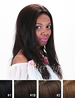 cheap -Human Hair Lace Wig Straight Lace Front 100% Hand Tied African American Wig Natural Hairline 130% Density Dark Black Black Dark Brown
