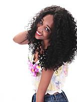 Недорогие -Натуральные волосы Лента спереди Парик Кудрявый 130% плотность 100% ручная работа Парик в афро-американском стиле Природные волосы