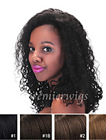 cheap -Human Hair Lace Front Wig Kinky Curly 100% Hand Tied African American Wig Natural Hairline Short Medium Long 130% Density Women's