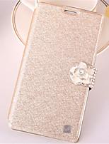 Para Samsung Galaxy Note7 Porta-Cartão / Com Strass / Com Suporte / Flip Capinha Corpo Inteiro Capinha Brilho com Glitter Couro PU Samsung