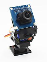 2 axes caméra fpv berceau tête + jeu de la caméra ov7670 pour les robots / r / c voiture - noir + bleu
